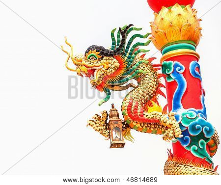 Dragon In A Chinese Temple