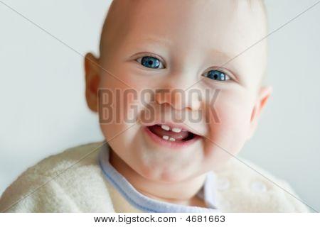 Closeup Portrait Of A Little Boy