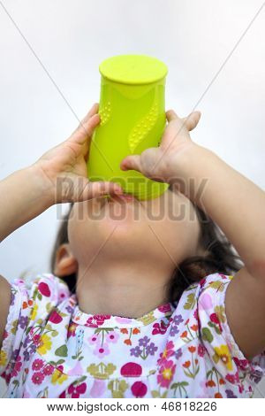 A very thirsty child