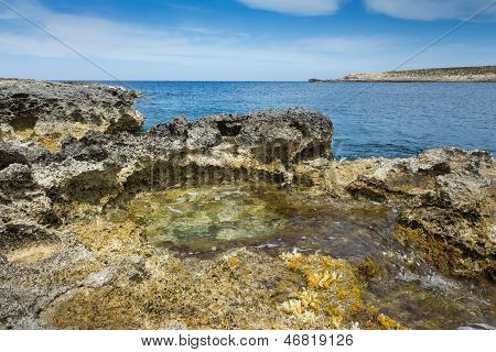 Rock Pool By The Sea