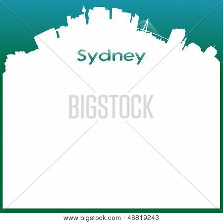 Vector background with Skyline of Sydney