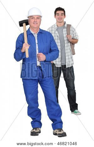 Construction worker and a college student
