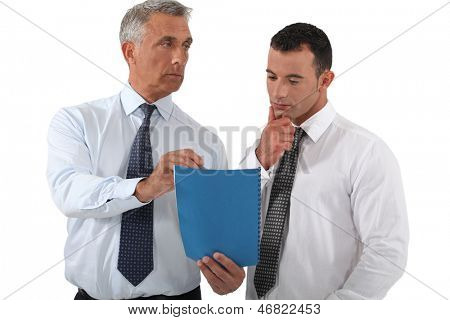 Boss delegating work to employee