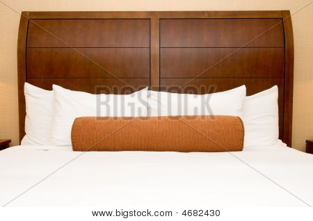 Pillows On Hotel Bed