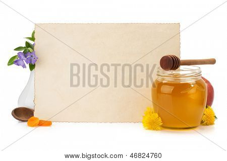 cooking recipes note paper and spices on white background