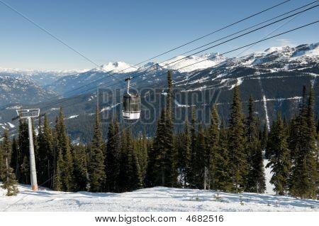 Gondola At Ski Resort