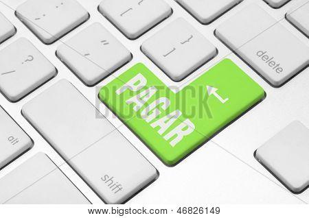 Pagar key on the computer keyboard