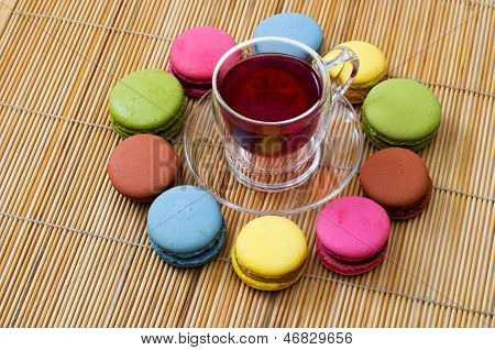 Macaroon And Red Tea