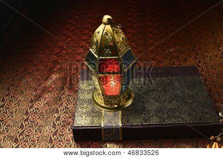 Islamic lamp and gift box