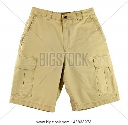 Men's Shorts Isolated On White Background