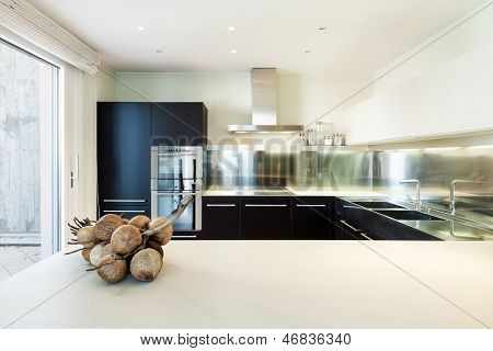 interior luxury apartment, beautiful modern kitchen