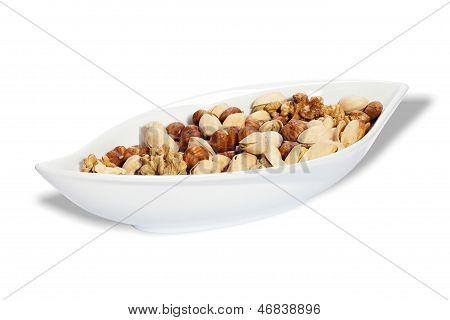 Bowl With Nut Kernels