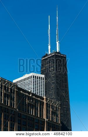 Hancock Building And Chicago Skyline