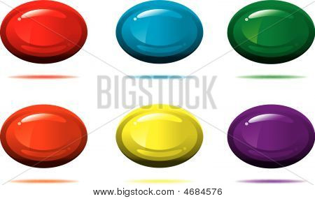Vector Glossy 3-d Oval