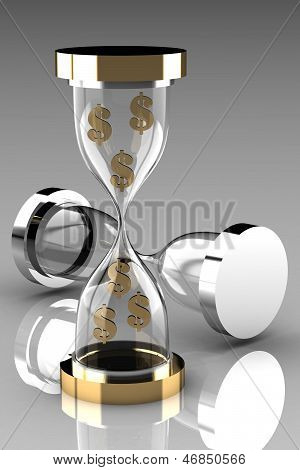 Time Is Money. Waste Time Concept