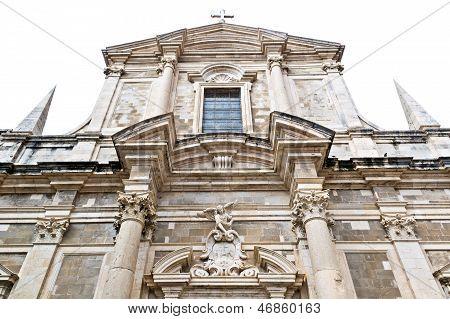 Front view of Saint Ignatius Church in Dubrovnik