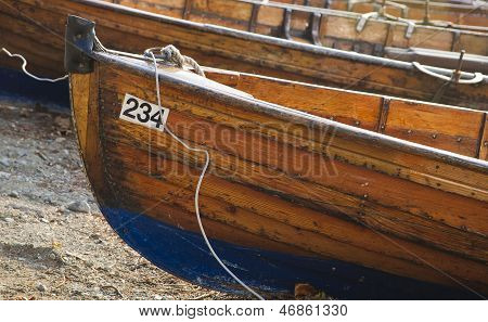 Wooden Boat At Lake Windermere