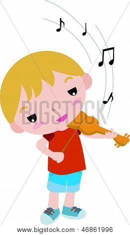 Boy musician