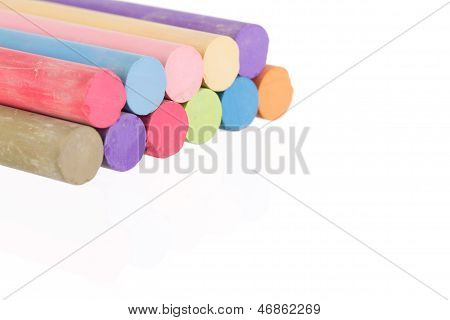 Stacked Colorful Chalk Sticks