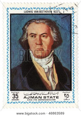 Portrait Of Ludwig Van Beethoven In 1823