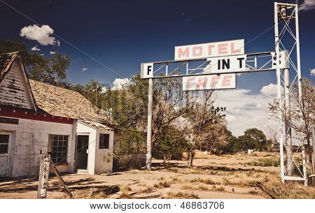 Abandoned restaraunt on Route 66
