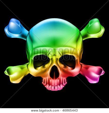 Cráneo multicolor