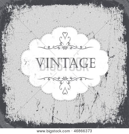 Vintage Grunge Karte in schwarz-weiß Farbumfang. Raster Version, Vektordatei im Portfolio zur Verfügung.