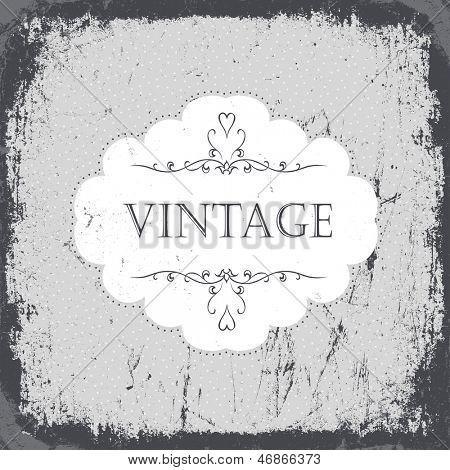 Vintage grunge card in monochrome gamut. Raster version, vector file available in portfolio.