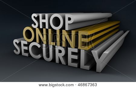 Shop Securely Online with Web Protection Concept