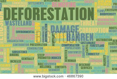 Ontbossing bos verlies schade Concept als kunst