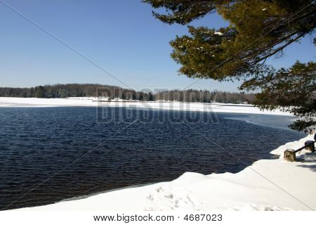 Winter Scene – Promised Land State Park, Pa