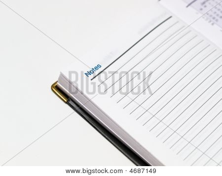 Opened Notebook On Notes Page