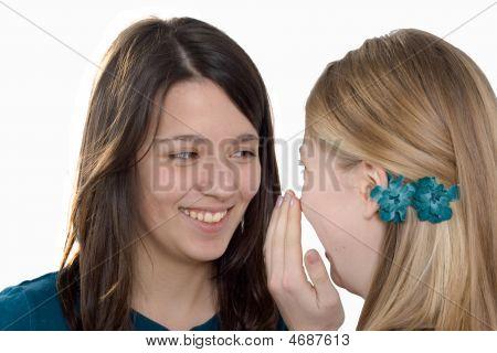 Girlfriends Whisper A Secret