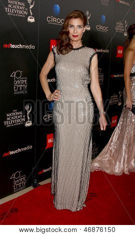LOS ANGELES - JUN 16:  Kristian Alfonso arrives at the 40th Daytime Emmy Awards at the Skirball Cultural Center on June 16, 2013 in Los Angeles, CA