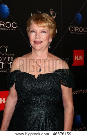 LOS ANGELES - JUN 16:  Erika Slezak arrives at the 40th Daytime Emmy Awards at the Skirball Cultural Center on June 16, 2013 in Los Angeles, CA