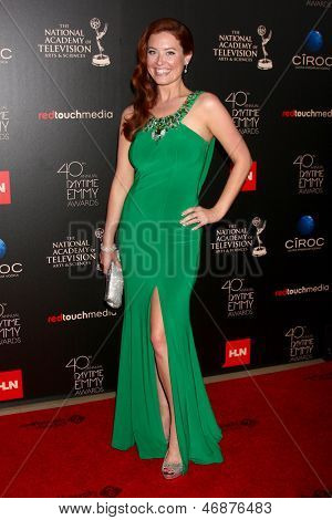 LOS ANGELES - JUN 16:  Melissa Archer arrives at the 40th Daytime Emmy Awards at the Skirball Cultural Center on June 16, 2013 in Los Angeles, CA