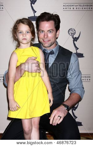 LOS ANGELES - JUN 13:  Michael Muhney arrives at the Daytime Emmy Nominees Reception presented by ATAS at the Montage Beverly Hills on June 13, 2013 in Beverly Hills, CA