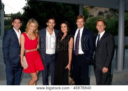 LOS ANGELES - JUN 15:  Robert Adamson, Linsey Godfrey, Brandon Beemer, Nadia Bjorlin, Jack Wagner, Brad Bell attend The LLS 2013 Gala at the Skirball Center on June 15, 2013 in Los Angeles, CA