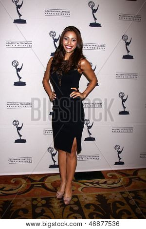 LOS ANGELES - JUN 13:  Lindsey Morgan arrives at the Daytime Emmy Nominees Reception presented by ATAS at the Montage Beverly Hills on June 13, 2013 in Beverly Hills, CA
