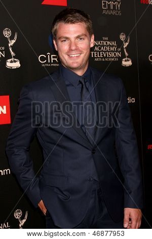 LOS ANGELES - JUN 16:  Jeff Branson arrives at the 40th Daytime Emmy Awards at the Skirball Cultural Center on June 16, 2013 in Los Angeles, CA