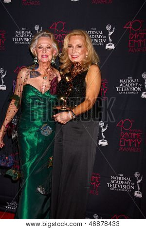 LOS ANGELES - JUN 14:  Tippi Hedren, Judy Blye Wilson attends the 2013 Daytime Creative Emmys  at the Bonaventure Hotel on June 14, 2013 in Los Angeles, CA
