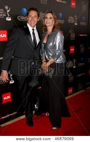 LOS ANGELES - JUN 16:  Michael Corbett, Jess Walton arrives at the 40th Daytime Emmy Awards at the Skirball Cultural Center on June 16, 2013 in Los Angeles, CA