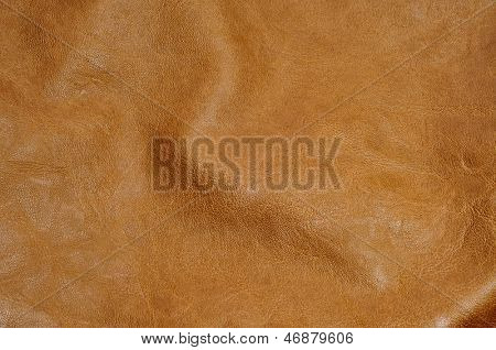 background made of a closeup of a brown leather texture