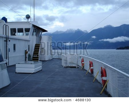 Ferry Deck & Coastal Bc Mountains