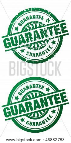 Guarantee Rubber Stamp - Clean And Grunge Style