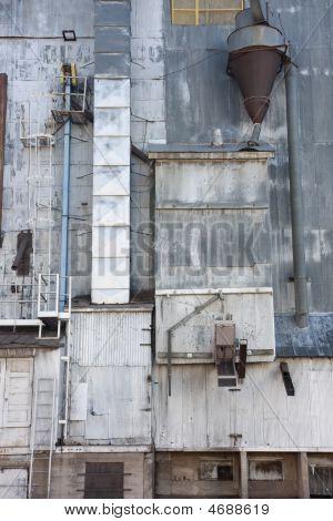 Industrial Background - Old Grain Elevator