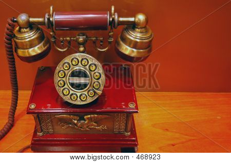 Old Telephone Modern Button