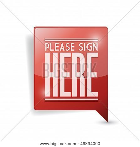 Please Sign Here Pin Point Marker