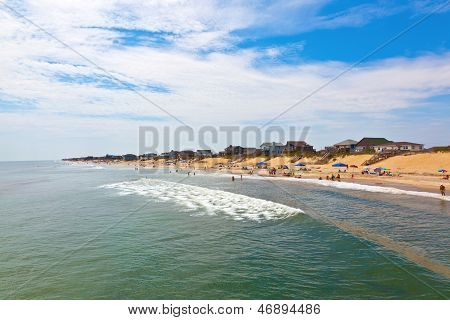 Beautiful Beach At The Outer Banks In America