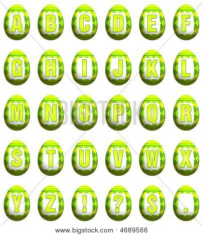 Easter Egg Font - Lime Green